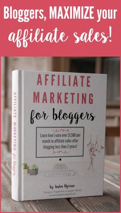 This is a must read for bloggers! Learn how to maximize your affiliate sales with strategies for your blog and social media that you would never dream up on your own.  The book Affiliate Marketing for Bloggers covers everything!