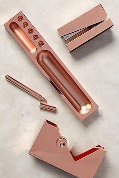 Copper-Clad Desk Accessories - anthropologie.com