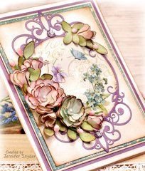 Scrap Escape - More fun with Spellbinders and Becca Feeken. This is the Elegant Vignettes collection. I used Graphic 45 papers (Secret Garden) as my paper choice. See the beauty of these gorgeous dies: 3d Cards, Pop Up Cards, Easel Cards, Becca Feeken Cards, Card Creator, Homemade Greeting Cards, Romantic Cards, Spellbinders Cards, Heartfelt Creations
