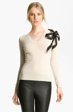 Bow Detail Knit Sweater