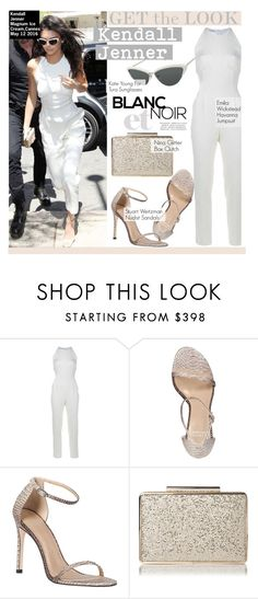 """""""Get The Look - Kendall Jenner"""" by kusja ❤ liked on Polyvore featuring KRISVANASSCHE, Emilia Wickstead, Stuart Weitzman, GetTheLook, cannes, celebstyle and kendalljenner"""