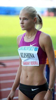 Darya Klishina, Athletic Girls, Athletic Body, Beautiful Athletes, Gym Clothes Women, Women Volleyball, Long Jump, Sport Body, Sporty Girls