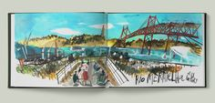 Some summer sketches made during 5 days in Lisbon