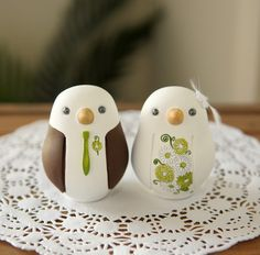 Cute love birds cake topper
