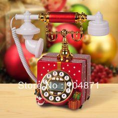 Free Shipping Antique Telephone Fashion Callerid Rustic Vintage Fashion Cordless  Phones Digital Telephone Promotions(China