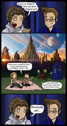 Cute. Except, Moffat stated in DWM that the Asgard picnic was with Ten, not Eleven.