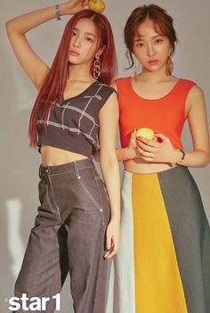 Sohee and Hyeseong Hunus Entertainment, Korean Group, Kpop Girls, Girl Group, My Girl, Fashion Dresses, Photoshoot, Culture, Lady