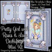 Pretty Girl with Roses & Lace Decoupage Mini Kit
