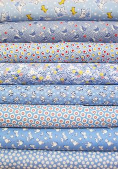 1930s Reproduction Fabric Bundle - Blue -
