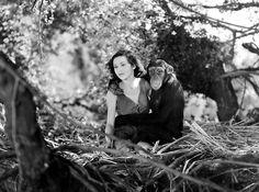 "Maureen O'Sullivan in the film ""Tarzan and His Mate"" (1934)"