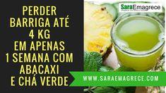 → Perder barriga até 4 kg em apenas 1 semana com água da casca de abacaxi e chá verde