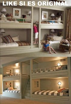 Wow! This would be great for sleepovers! Basement idea? Child's room? Turn it into a study area later if made tall enough.