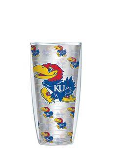 University of Kansas Tumbler - Customize with your monogram or name! by GoneGreek on Etsy