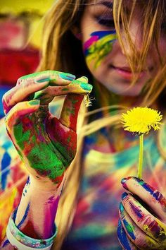 i have a strange attraction to photos of people with paint all over them