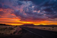 Sunset outside of Bly, Oregon. : oregon