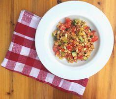 SMOOTH COOKING aneb vaříme hladce : BULGUROVÝ SALÁT SE ZELENINOU A VAJÍČKEM