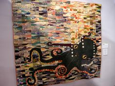 'Ocean Shadows in the Morning Sunrise' made of kimono silk with yo yos. Tokyo on  Queenie's Needlework: January 2013