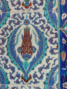 Rüstem Pasha Camii, Istanbul, Turkey There is 41 different design of tulips in this mosque