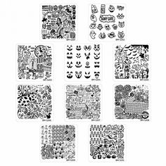 10pc Holiday Themed Nail Art Stamping Plates - Occasions Collection, Halloween + Thanksgiving