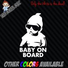 """BABY ON BOARD Carlos Hangover Die Cut Vinyl Decal Sticker Car 6"""" Funny Sign The by TheDecalDoc on Etsy https://www.etsy.com/ca/listing/224877005/baby-on-board-carlos-hangover-die-cut"""