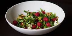 Raspberry Benefits + Easy Raspberry Protein Salad