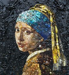 Artist Uses Hundreds of Found Objects To Recreate Iconic Paintings And Portraits | Bored Panda