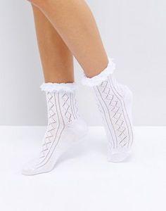 ASOS | ASOS Crochet Lace Frill Ankle Socks