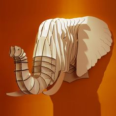 Animal trophy (Cardboard Safari, 2011): a whole series of 'mounted trophies' from recycled cardboard. For those who want to take their macabre home decor one step further...