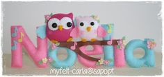 / Felt name Felt Banner, Felt Letters, Felt Diy, Felt Crafts, Diy And Crafts Sewing, Diy Crafts, Owl Bedrooms, Felt Name, Felt Wreath