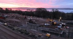 An early start on site and a spectacular sunrise...