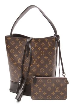 This combination of Monogram Canvas and black leather trim is stunning.