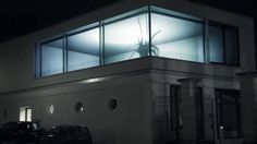 Projection mapping on a building in Saarbruecken, Germany. Two small spiders were put in a small scale model of the building, filmed from the viewers perspective…
