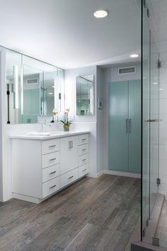 wood-grain-porcelain-tile-Bathroom-Contemporary-with-bath-tub ...