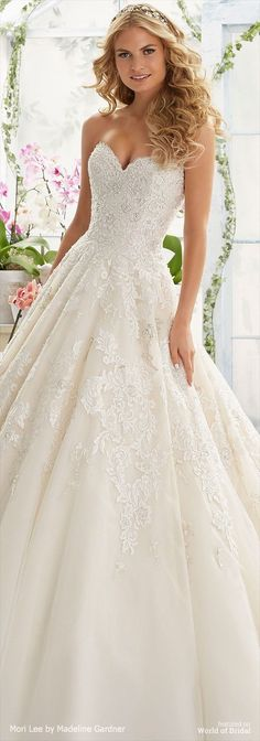 Mori Lee by Madeline Gardner Spring 2016 Wedding Dress
