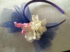Purple and blue Headband by HelgasHairBowDesigns on Etsy
