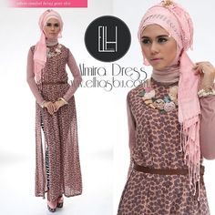 .@elhasbu   Restock Almira Dress, avalaible in 2 colors (dusty pink-grey & black-pink...   Webstagram - the best Instagram viewer