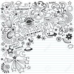 Hand-Drawn Superstar Scribble Inky Doodles- Back To School ...
