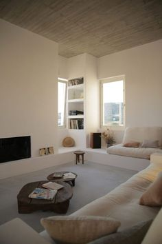 "love the built in furniture. don't like the white walls but love the creams/natural tones. I would love to have a ""zen room"""