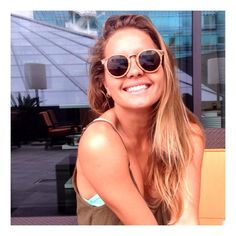 The surfer Bruna Schmitz wearing Mike 0,1 (with Woodys sunglasses )