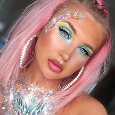 One-And-Only-One music festival makeup, festival makeup glitter, fairy Makeup Bronze, Makeup Black, Music Festival Makeup, Festival Makeup Glitter, Beauty Festival, Coachella Make-up, Rave Hair, Glitter Make Up, Image Beautiful