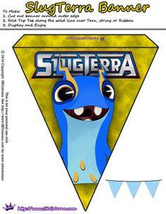 Slugterra printable Tazerling banner ~ Free Slugterra Party Printables, and Crafts | SKGaleana #Slugterra