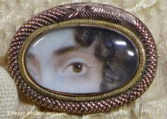 Antique Portrait Lover's (Georgian) Eye Miniature Brooch