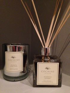 New diffuser & candle- COCHINE agarwood & Amber reed diffuser, Vanille & Tabac Noir candle