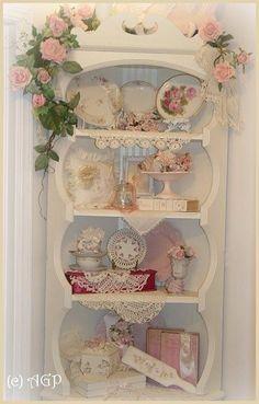 1000 ideas about shabby chic cabinet on pinterest - Vajilla shabby chic ...