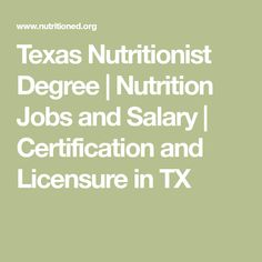 Texas Nutritionist Degree | Nutrition Jobs and Salary | Certification and Licensure in TX Nutrition Jobs, Health Coach, Certificate, Coaching, Texas, People, Training, People Illustration, Texas Travel
