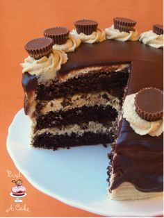 Reese's Peanut Butter Chocolate Cake {Bird On A Cake}