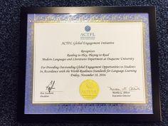 La Cullerense Lucia Osa recibe el premio de la  ACTF en Boston EEUU.