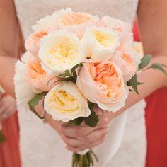 Peony Bridal Bouquet. Apricot, Peach, Yellow. LOVE it <3 #favorite