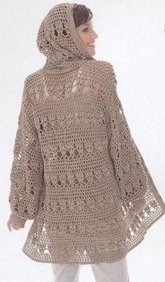 Coat hook of 2018 Crochet Coat, Crochet Shirt, Crochet Jacket, Crochet Cardigan, Crochet Clothes, Madame, Beautiful Crochet, Cardigans For Women, Clothing Patterns