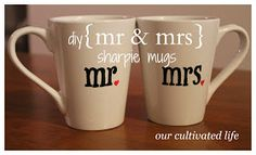 our cultivated life: diy {mr} sharpie mugs